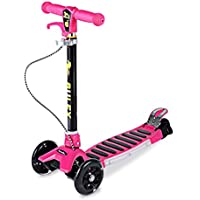 Patinete Cimiva Patinete scooter plegable con 3 ruedas para niños de 3-13 años de edad, rojo