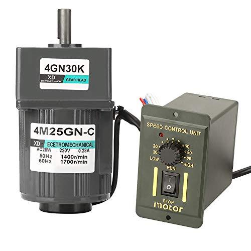 AC-Getriebemotor, 4M25GN-C AC220V 25W Einphasen-Getriebemotor Einstellbare Geschwindigkeit CW/CCW Weit verbreitet in kleinen Fließbändern, automatischen Mischern(30K) -