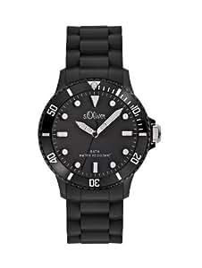 s.Oliver Unisex-Armbanduhr Medium Size Silikon schwarz SO-2290-PQ