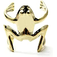 DDU(TM)) 1 Stück Goldene Punkart überzogen Frosch Design Ohr-Stulpe Klipp Wickel Ohrringe