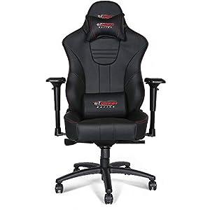 GT Omega MASTER XL Racing, Silla de oficina de piel, deportiva, para jugar a videojuegos