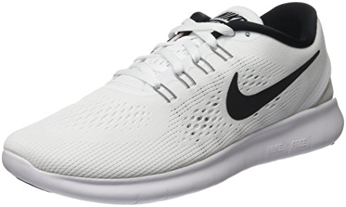 Nike Herren Free Run Low-Top, Weiß/Schwarz), 40 EU