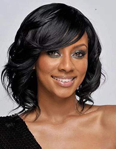 Sexyy cosplay cinghia per capelli corti neri con parrucche corte corte nere afro fitti capelli parrucca ,parrucca di capelli in fibra sintetica di qualità,
