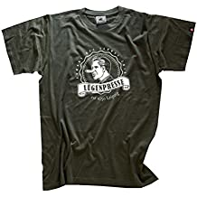 Shirtzshop–Camiseta para hombre engaño Prensa–est 1650Leipzig–primera Periódico, Oliva, S, U _ luegpress