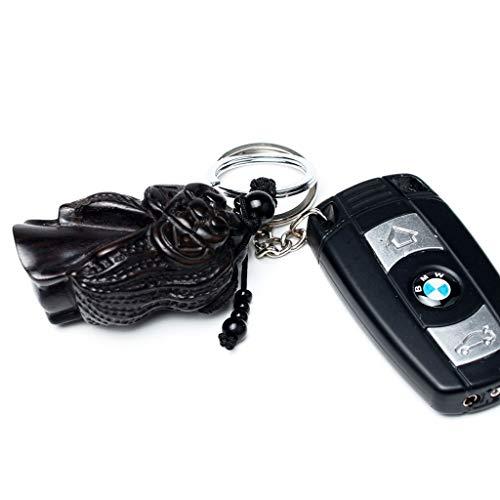 YYHSND Schlüsselanhänger Anhänger Home Craft Ornament Holzschnitzerei Anhänger Autoschlüssel Ring Ornament Nussbaum Erdnuss 3x8 cm Schlüsselbund -