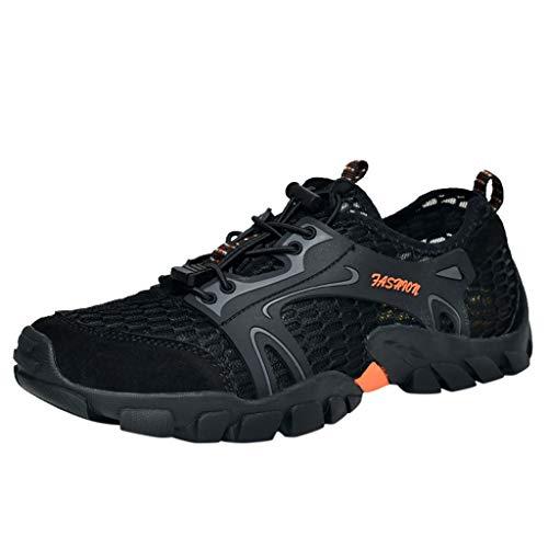 JYJM Herren Sommer Mesh Schwimmen Schuh Herren Atmungsaktives Mode Trekking Sandale Sport Outdoorschuhe Fitness Sneaker Kletterschuhe Leichte Atmungsaktiv Sneaker - Loafer Gurt Herren