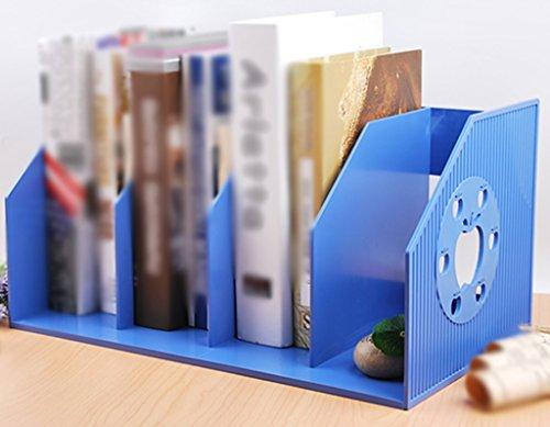 DFHHG® Libro Stand 420 * 233 * 208mm Estante para estantería para libros Escritorio creativo Escritorio para estudiantes Escritorio para estudiantes Negro durable ( Color : Azul )