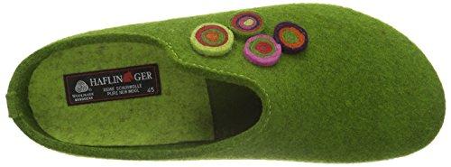 Haflinger Canon, Ciabatte Unisexe Adulte Vert (vert (herbe Verte 36))