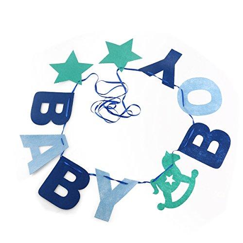 Pixnor Baby Boy fühlte Garland Ammer Banner Baby Dusche Geburtstag Party Dekoration, blau