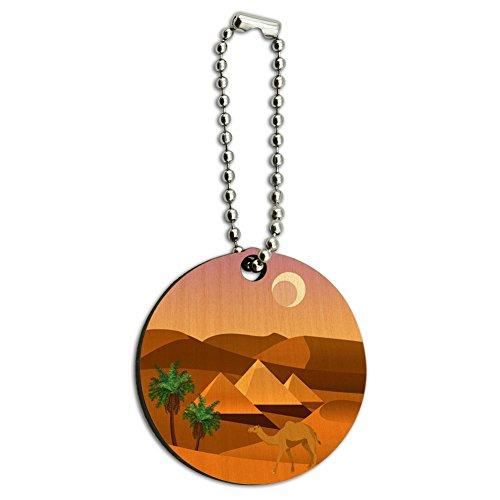 Pyramiden Gizeh Wüste Ägypten Camel Holz rund Schlüssel Kette