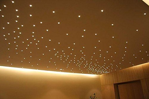 Set Sternenhimmel Warmweiß - 50 Stück LED Einbaustrahler 12V + Netzteil