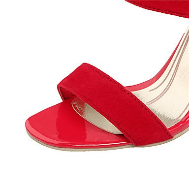 LvYuan Sandali-Formale Casual Serata e festa-Comoda-A stiletto-PU (Poliuretano)-Nero Blu Viola Rosso Blue