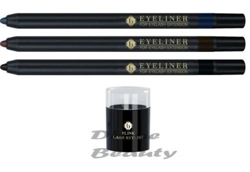 Blink Eye Liner - Professionally Designed For Eyelash Extensions Includes Free Sharpener (Black)