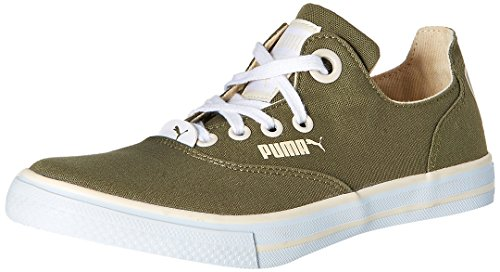 Puma Men's Limnos CAT 2 DP Burnt Olive-White Swan-White Mesh Running Shoes - 6 UK/India (39 EU)  available at amazon for Rs.1254