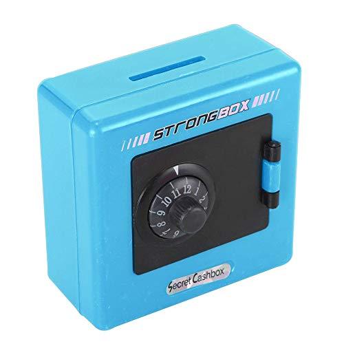Makalon Kombinationsschloss-Geld-Münzen-Einsparungs-Aufbewahrungsbehälter-Code-Bargeld-Safe-Fall-Sparschwein Unabhängige 2-Code-Kombination (Blau) (Elektronisches Kombinationsschloss)