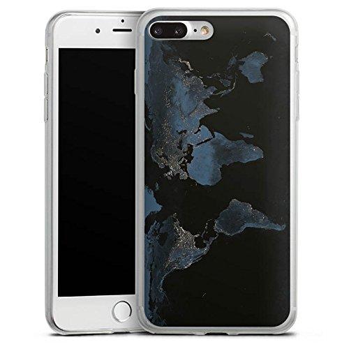 Apple iPhone 6 Slim Case Silikon Hülle Schutzhülle World Map Weltkarte Reisen Silikon Slim Case transparent