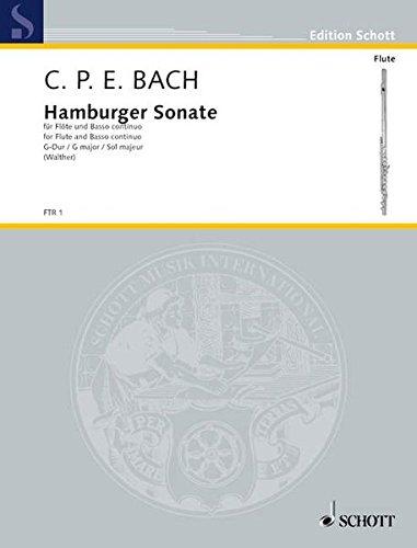 Sonates de Hambourg pour flute traversiere - Sol m...