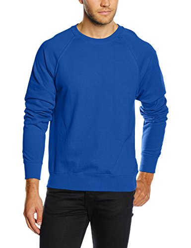 Fruit of the Loom Lightweight raglan sweatshirt Royal Blue XL (Fleece-raglan-kapuzen-pullover)