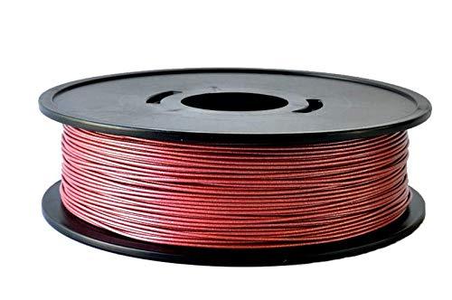 PLA rojo metalizado 3D filamento Arianeplast 750 g Made in France