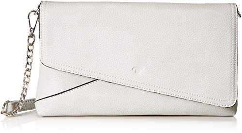 TOM TAILOR Crossbody Tasche Damen, Chrissi, Grau, 27x17x3.5 cm, Clutch