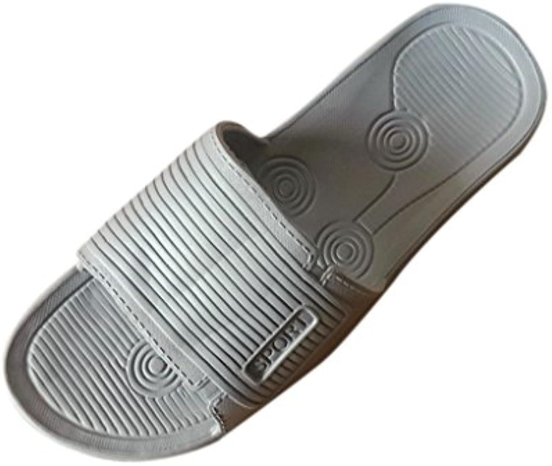 Lamdoo - Zapatillas de Interior y Exterior Antideslizantes, Color Puro, para Baño, casa, Zapatillas para Hombres... -