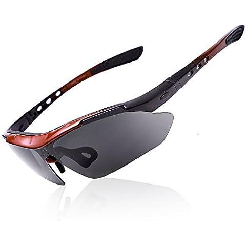 Occhiali polarizzati Sport Moto Occhiali da sole da ciclismo, UV400