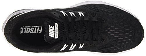 Nike Zoom Winflo 4, Scarpe da Corsa Uomo Nero (Black/White/Dk Grey)