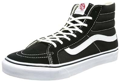 Vans U SK8-HI SLIM BLACK/TRUE WHIT VQG36BT, Unisex-Erwachsene Sneaker, Schwarz (BLACK), EU 35 (US 4)