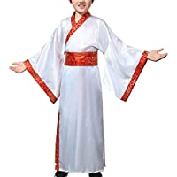 Yuluo China Hanfu Niños Nacional - Unisex Niños Chino Estilo Escenario Teatro Juego Ópera Actuaciones Cosplay Espectáculo Tradicional Vestido