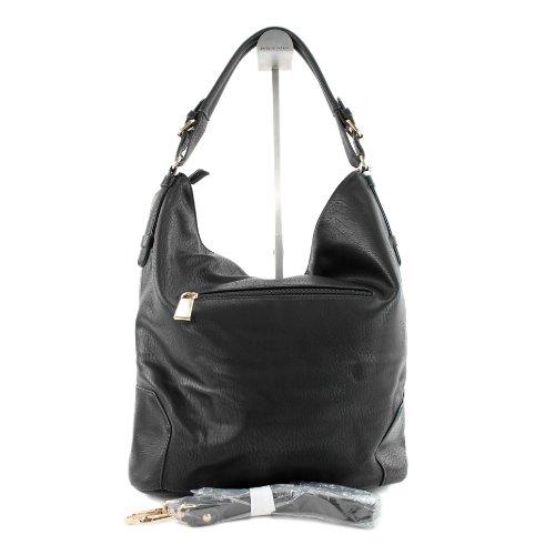 Borsetta borsa da donna borsa shopping bag donna in ecopelle finta pelle LK6065 Schwarz