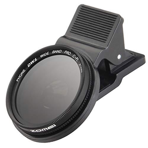Zomei 37 mm Professionelle Handy-Kamera CPL Objektivfilter mit Clip für iPhone 6 6S Plus Samsung Galaxy S8 Android Smartphone