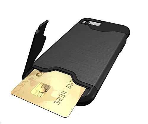 Vanki® Schutzhülle für iPhone 6/6s Neue Modelle PC+TPU Schutz Handy Hülle Case Cover, Klappständer und Abdeckung für den Kartenslot (iPhone 6/6s, Minze) Grau