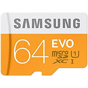 Samsung Memory 64GB EVO Micro SDXC UHS-I Grade 1 Class 10 Speicherkarte Memory Card (bis zu 48MB/s Transfergeschwindigkeit) ohne SD Adapter