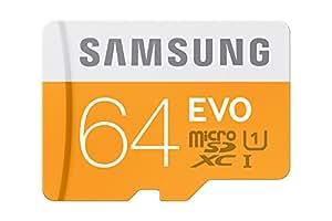 Samsung EVO Scheda MicroSDHC da 64 GB, Class 10, Nero/Antracite