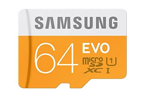 Samsung Evo 64GB Class 10 MicroSD Memory Card with Adaptor (MBMP64D)