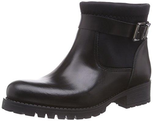 PIECES Psvaha Leather Boot Black, Stivaletti classici non imbottiti, corti donna, Nero (Nero (nero)), 36