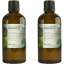 Naissance Olio di Bergamotto (non-FC) - Olio Essenziale Puro al 100% - 200ml (2x100ml)
