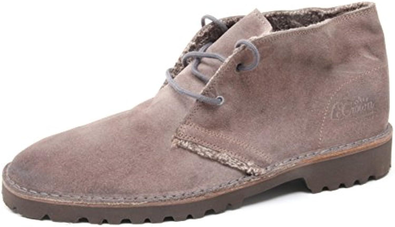 B4038 polacchino uomo LECROWN DESERT BOOTS scarpa tortora shoe man