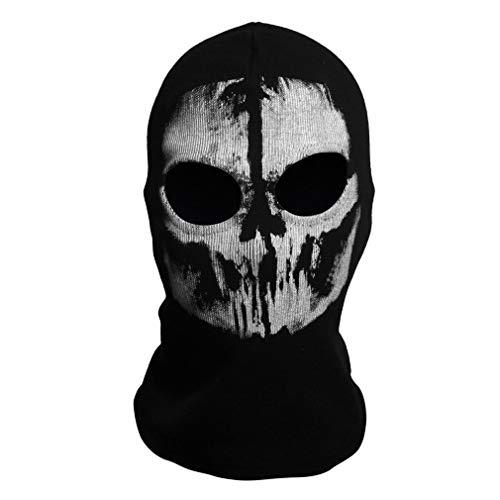 Ballylelly Halloween Kostüme Männer Schädel Geister Masken Halloween Punisher Todesstoß Reaper Vollgesichtsmaske (schwarz - B) (Schwarze Halloween-kostüme Für Männer)