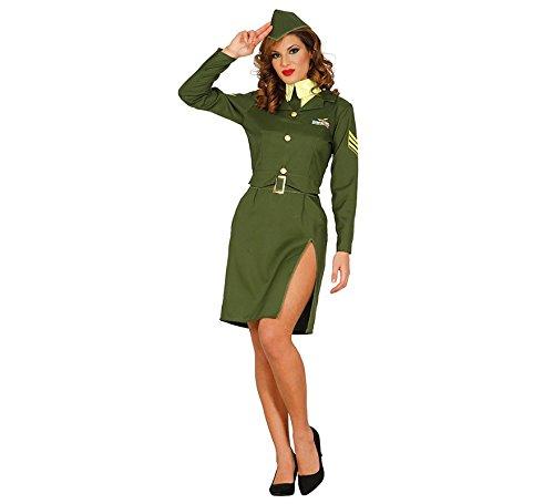 f150b7e03118 Costume soldatessa militare soldato sexy per donna signora costume verde  pilotin Taglia M/L