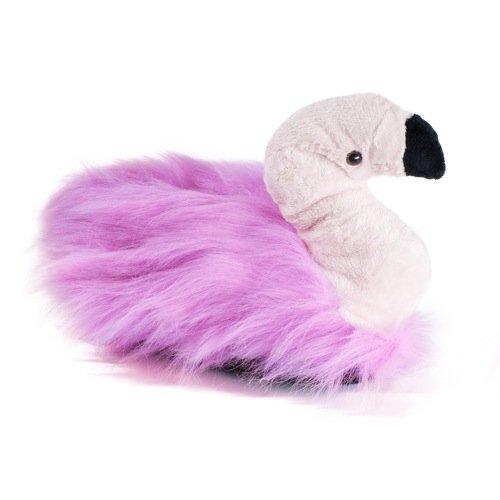 funslippers®, Lustige Hausschuhe Tiere Tierhausschuhe Größe 33, 34 35 Schadstoffgeprüft** Kinder Flamingo Hausschuhe Plüsch Hausschuhe pink mit Gummisohle (Kostüme Flamingo Kind)