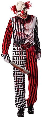 Costume di Halloween ufficiale Rubie, clown horror malefico, taglia XL