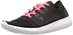 adidas Element Refine Strick,-Schuhe Running Training Damen, Schwarz - Noir (Core Black/Core Black/Flash Red) - Größe: 41 1/3