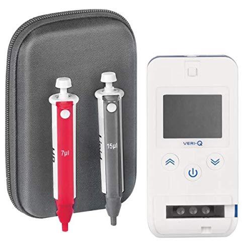 Veri-Q Multi Messgerät | Tragbares Messgerät zur Auswertung von Gesamtcholesterin, Triglyceride, HDL, LDL, Glucose, Hb-Werte
