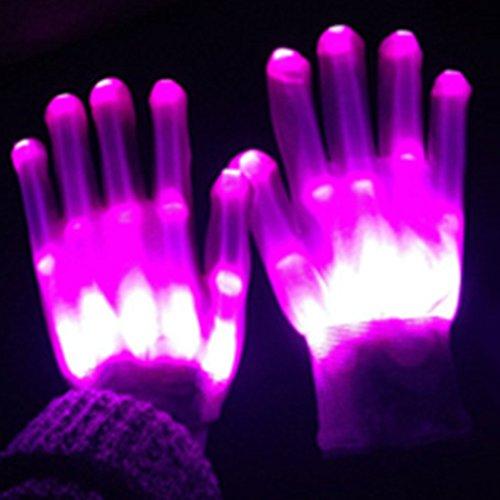 Dsaren LED Handschuhe Blinkt Bunte Handschuhe für Halloween, -