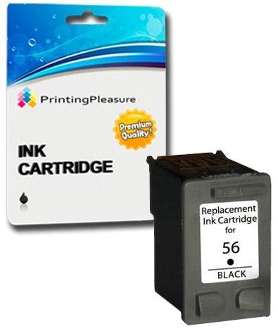 Printing Pleasure Sostituzione per HP 56 Nero Cartuccia d'inchiostro compatibile