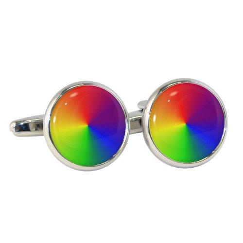 Rainbow Farben Manschettenknöpfe in Geschenkbox