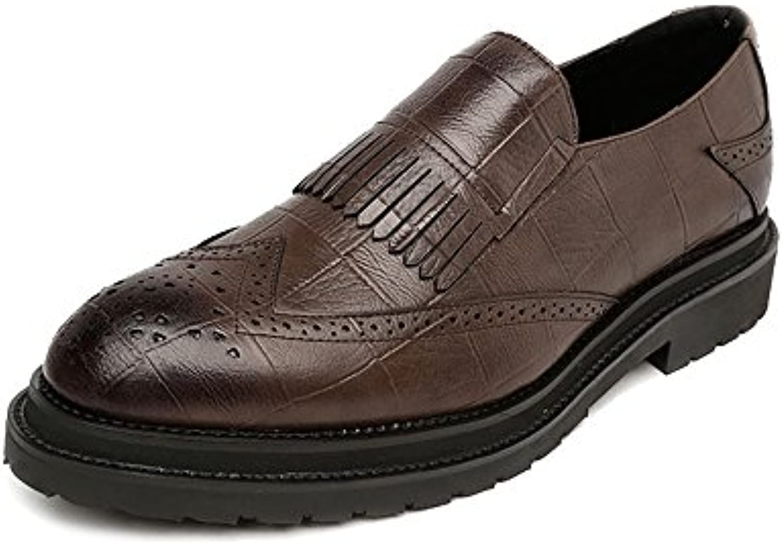 Lederschuhe PU Leder Schuhe der Männer Klassische Beleg auf Quasten Dekoration Breathable Formale Geschäfts gefütterteLederschuhe PU Leder Schuhe Klassische Quasten Dekoration Geschäfts gefütterte