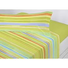 Juego sábanas pirineo TEJADA Antonella. Cama de 90 cm. Color Verde - Sedalinne