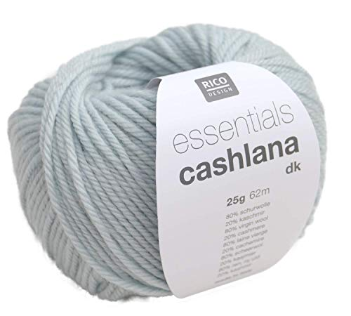 Rico essentials CASHLANA dk Fb. 002 hellblau Kaschmirwolle Merinowolle extrafein Babywolle -